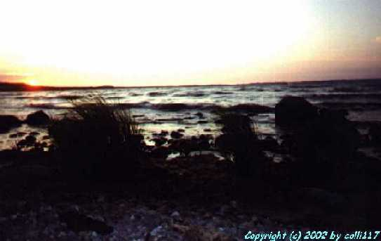 Ein weiteres Bild vom Sonnenuntergang am Strand ... achja .... das Meer ....